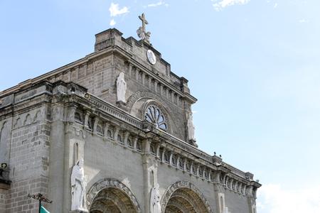 イントラムロス、フィリピン - 有名なランドマークでマニラ大聖堂 写真素材
