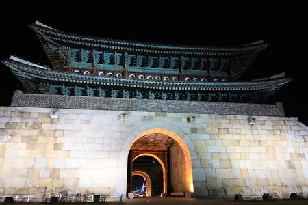 unesco world heritage site: Hwaseong Fortress, Traditional Architecture of Korea in Suwon, South Korea - historical landmark
