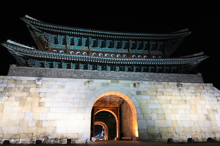 Hwaseong Fortress, Traditional Architecture of Korea in Suwon, South Korea - historical landmark