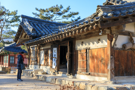 Dec 16, 2016 Old Street at The National Folk Museum of Korea in Seoul city Redakční
