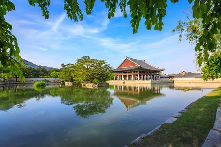 Gyeongbokgung Palace in Seoul, South Korea at summer season