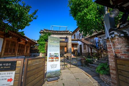must: Korean traditional house, Bukchon Hanok Village on Jun 19, 2017 in Seoul city, South Korea