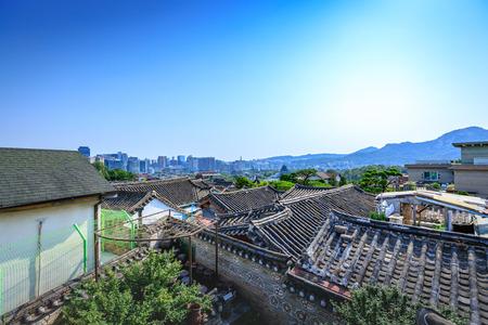Korean traditional house, Bukchon Hanok Village on Jun 19, 2017 in Seoul city, South Korea