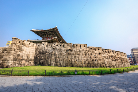 Dongdaemun gate (Heunginjimun) on Jun 18, 2017 in Seoul city, South Korea- Tour Destination