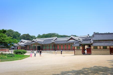 Changdeok Palace or Changdeokgung on Jun 17, 2017 in summer season, Seoul, republic Korea, Korea - traditional architecture of Joseon Dynasty