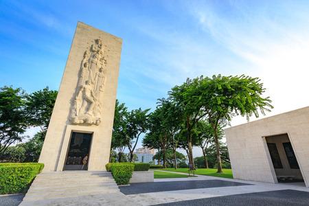 Manila American Cemetery in Taguig City, Metro Manila, Philippines.