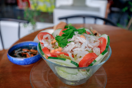 Vietnamese chicken salad food