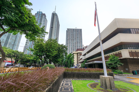Asian Institute of Management building on Sep 4, 2017 in Makati, Metro Manila, Philippines - cityscape