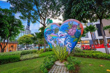 Street art de High street à Bonifacio Global City le 1 sept. 2017 à Taguig, Grand Manille, Philippines Banque d'images - 87503914