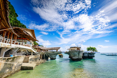 West Cove Resort, which is famous landmark in Boracay Island on Nov 18, 2017 in the Philippine