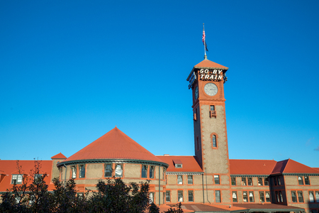 Union Station Train Transportation Complex Building Clock Tower Portland Oregon