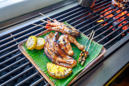 Philippine barbecue food on the table Stock Photo