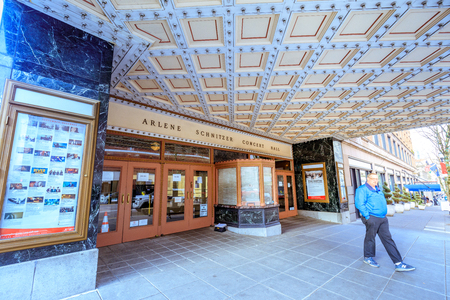 Portland Oregon United States Dec Entrance Of Stock - Arlene schnitzer concert hall portland oregon