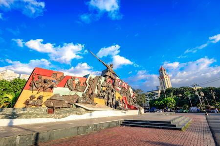 Manila, Philippines - Feb 4, 2018 : Katipunan (KKK) Monument in Manila, Philippines. The Katipunan was a Philippine revolutionary society in Manila in 1892.