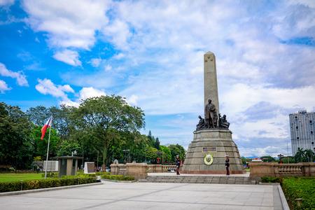 Manila, Philippines - Feb 4, 2018 : Monument in memory of Jose Rizal(National hero) at Rizal park in Metro Manila Redactioneel