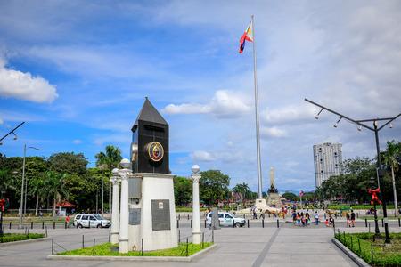 Manila, Philippines - Feb 4, 2018 : Public square view of Rizal park in Metro Manila, Philippines Editorial
