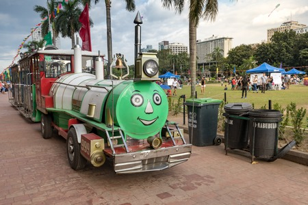 Manila, Philippines - Feb 4, 2018 : The Train Ride inside Rizal Park, Manila