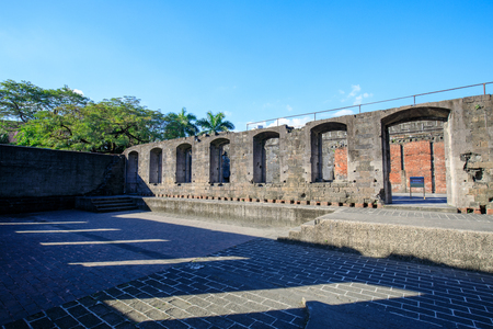 Manila, Philippines - Feb 17, 2018 : Spanish colonial Fort Santiago in Manila, Philippines