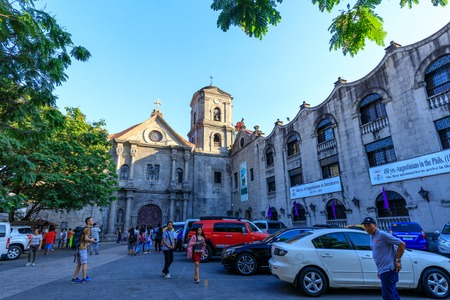 Manila, Philippines - Feb 17, 2018 : San Agustin Church, a Roman Catholic church under the auspices of The Order of St. Augustine