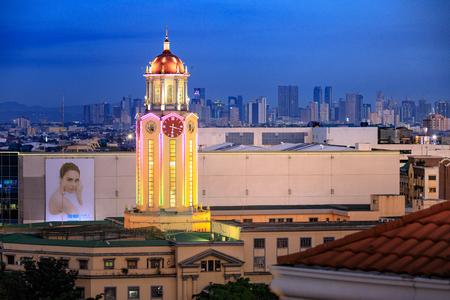 Manila, Philippines - Feb 17, 2018 : Manila city hall clock tower at sunset