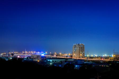 Manila, Philippines - Feb 25, 2018 : Night view of Manila, view from Makati district, Philippines