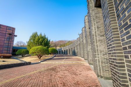 Gimhae, South Korea - March 10, 2018 : Building of Gimhae National Museum