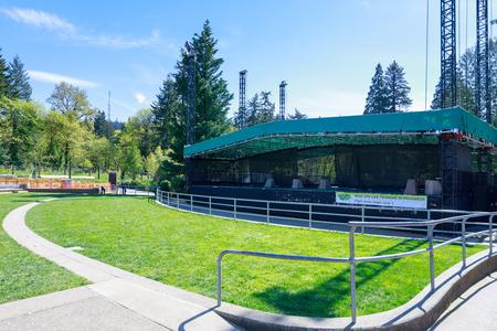 Portland, Oregon, USA - April 24, 2018 : Scenery of Oregon Zoo, which is located in Washington Park, Portland