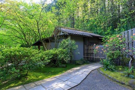 Beautiful Japanese Garden in Portland Oregon USA