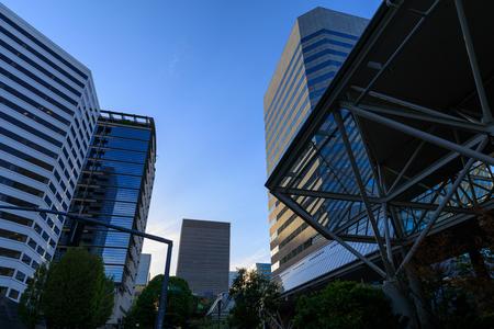 Portland, Oregon, USA - April 27, 2018 : The building of World Trade Center Portland, Scenery of downtown Portland