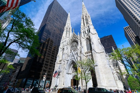 New york, United States - May 12, 2018 : St. Patrick's Cathedral in New York City