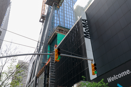 New York, USA - May 12, 2018 : The Sign of MoMA, The Museum of Modern Art in Manhattan, NYC