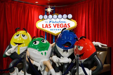 Las Vegas, Nevada - May 28, 2018 : M&Ms World on Las Vegas Strip Sajtókép