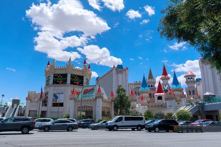 Las Vegas, Nevada - May 28, 2018 : Excalibur Hotel and Casino; one of many hotels featuring childrens attractions