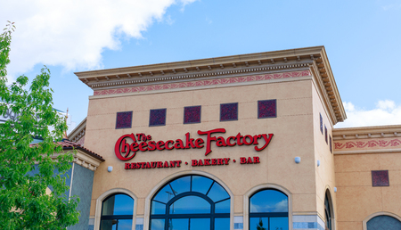 Portland, Oregon - May 21, 2018 : The Cheesecake Factory at Washington Square, Shopping mall in Portland