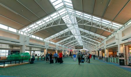 Portland, Oregon - May 26, 2018 : Inside view of Portland International Airport