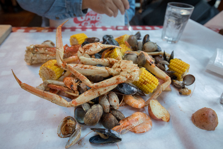 Seattle, Washington: Seafood Restaurant in Seattle Foto de archivo - 105936440