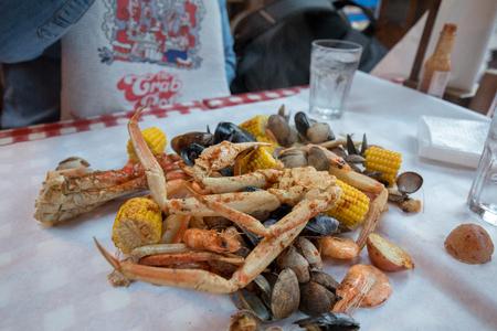 Seattle, Washington: Seafood Restaurant in Seattle Foto de archivo - 105936469