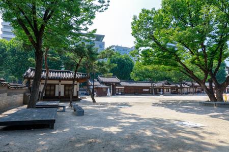 Seoul, South Korea - July 21, 2018 : Unhyeongung, Unhyeon palace scene in Seoul city