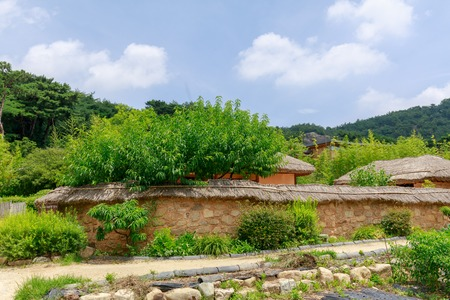 Gimhae, South Korea - July 12, 2018 : Bongha Village scene, Birthplace of the 16th President of Korea, Roh Moo-hyun in Gimhae, Gyeongsang Province Redakční