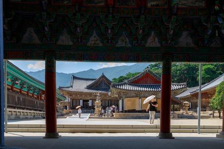 Yangsan, South Korea - Aug 2, 2018 : Tongdosa temple in Yangsan City 報道画像