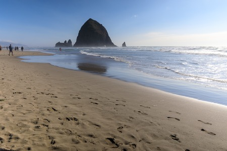 Haystack Rock in Cannon beach, Tourist attraction in Clatsop County, Oregon