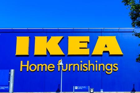 Portland, Oregon - Aug 29, 2018 : IKEA Home Furnishings Store. Located in Cascades Pkwy.