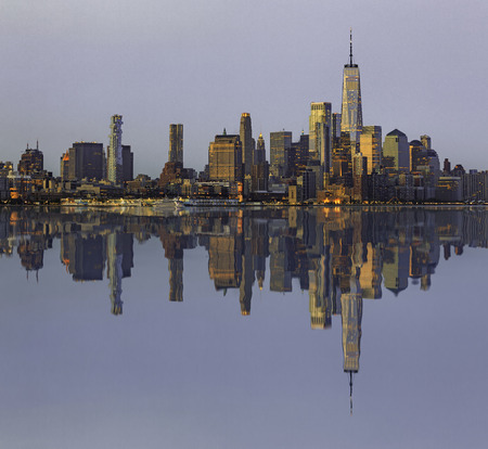 Manhattan Skyline, New York City, Beautiful cityscape