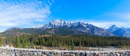 Panoramic view of Banff National Park, Alberta, Canada