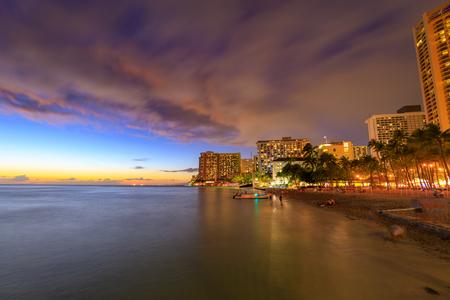 Famous Waikiki Beach, Oahu, Hawaii
