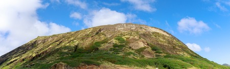 Kualoa mountain range panoramic view, famous filming location on Oahu island, Hawaii 写真素材