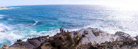 Honolulu, Hawaii - Dec 24, 2018 : Halona Blowhole Lookout, Tourist Attraction in Oahu island
