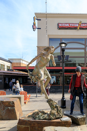 Tigard, Oregon - March 17, 2019 : Bridgeport Village, Shopping Mall in Tigard city Editorial