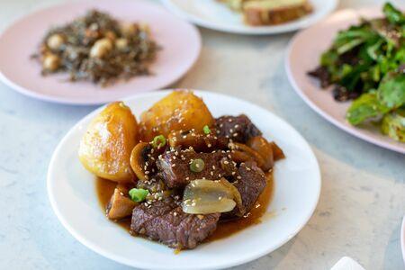 Braised Short Ribs - Galbi jjim, Banchan, Korean food