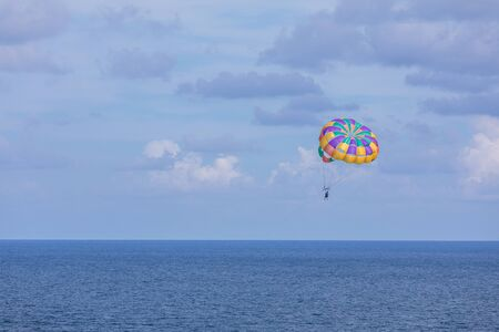 Parasailing in Caribbean Sea, Cancun beach